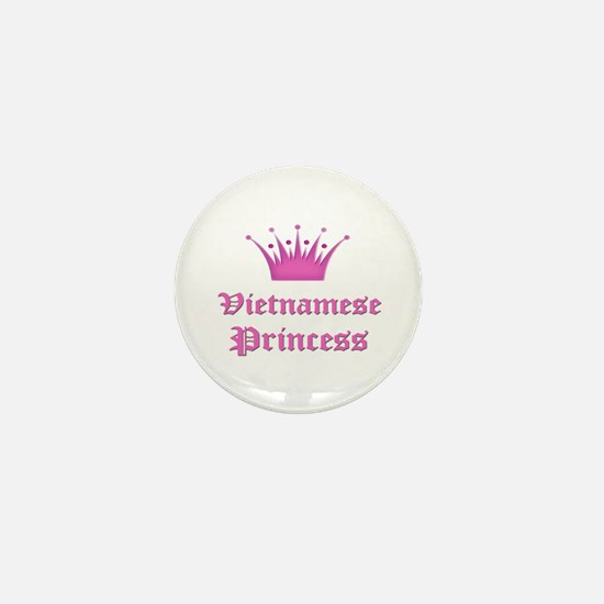 Vietnamese Princess Mini Button
