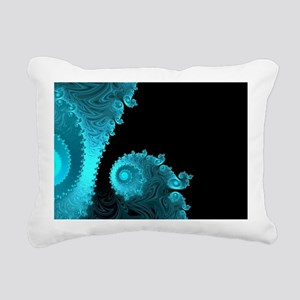 Black Ice Rectangular Canvas Pillow