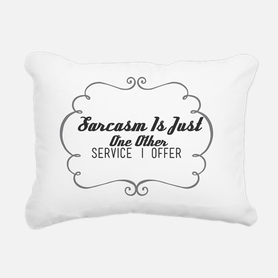 Unique Just Rectangular Canvas Pillow