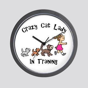 Crazy Cat Lady Trainee Wall Clock