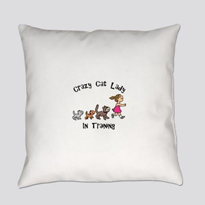 Crazy Cat Lady Trainee Everyday Pillow