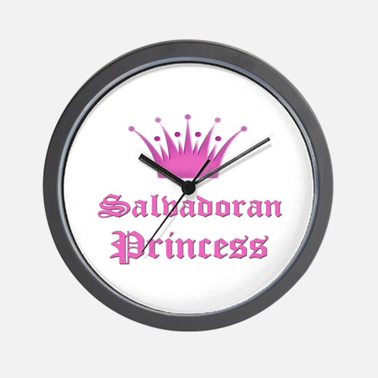 Salvadoran Princess Wall Clock