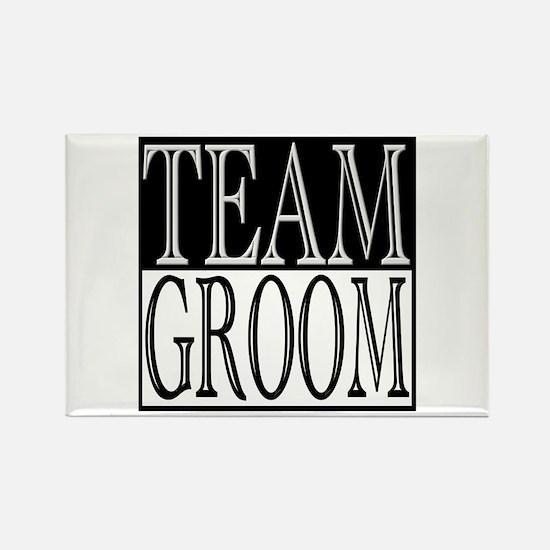 Team Groom -- Wedding Day Rectangle Magnet