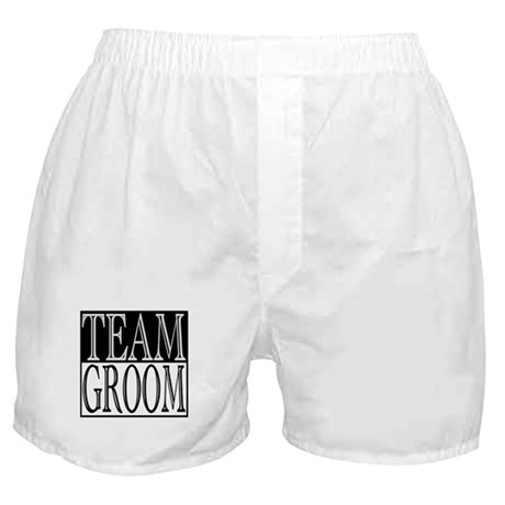Team Groom -- Wedding Day Boxer Shorts