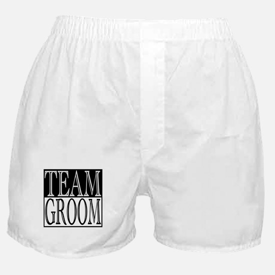 Team Groom -- Wedding Day Boxer Shorts