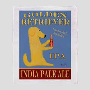 Golden Retriever IPA Throw Blanket