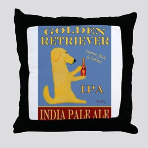 Golden Retriever IPA Throw Pillow