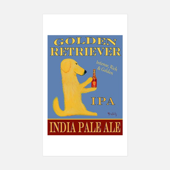 Golden Retriever IPA Sticker (Rectangle 10 pk)