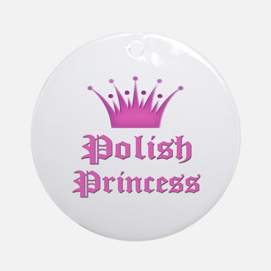 Polish Princess Ornament (Round)