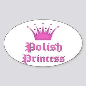Polish Princess Oval Sticker