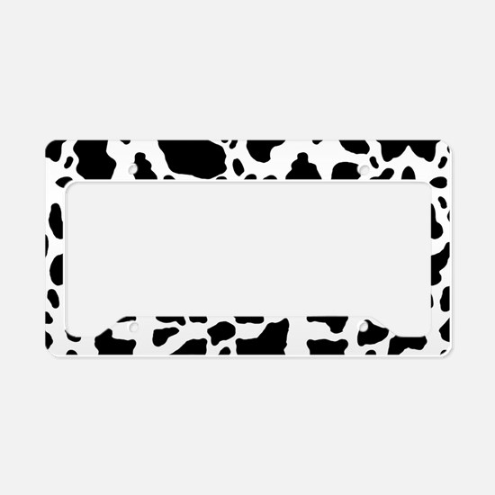 Cow Print Pattern License Plate Holder