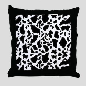 Cow Print Pattern Throw Pillow
