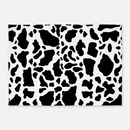 Cow Print Pattern 5'x7'Area Rug