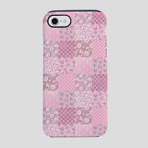 Pink Floral Patchwork iPhone 8/7 Tough Case