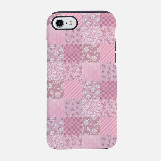 Pink Floral Patchwork iPhone 8/7 Tough Case