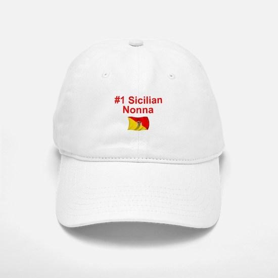 #1 Sicilian Nonna Baseball Baseball Cap