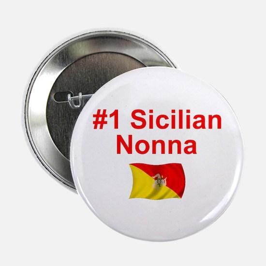 """#1 Sicilian Nonna 2.25"""" Button"""
