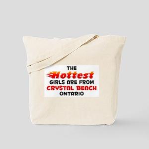 Hot Girls: Crystal Beac, ON Tote Bag