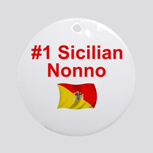 #1 Sicilian Nonno Ornament w/ribbon