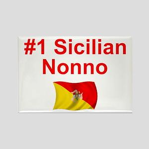 #1 Sicilian Nonno Rectangle Magnet