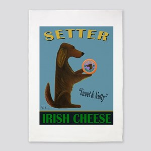 Setter Irish Cheese 5'x7'Area Rug