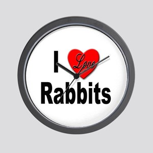 I Love Rabbits for Rabbit Lovers Wall Clock