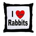 I Love Rabbits for Rabbit Lovers Throw Pillow