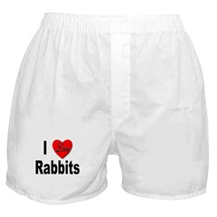 I Love Rabbits for Rabbit Lovers Boxer Shorts