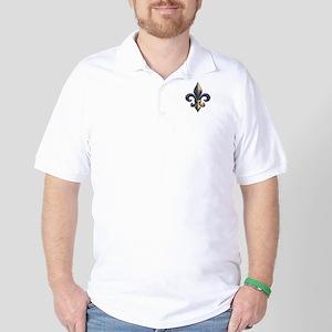 Fleur de lis Mardi Gras beads Golf Shirt