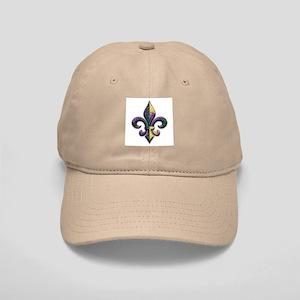 Fleur de lis Mardi Gras beads Cap
