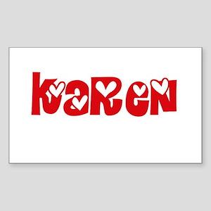 Karen Love Design Sticker