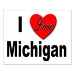 I Love Michigan Small Poster
