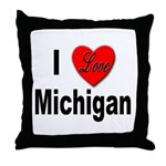 I Love Michigan Throw Pillow