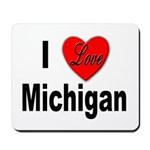 I Love Michigan Mousepad