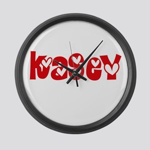 Kasey Love Design Large Wall Clock