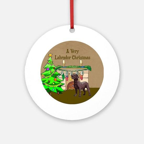 A Very Labrador Christmas Ornament (Round)