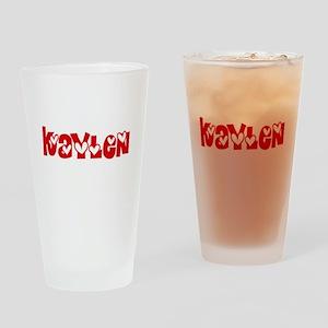 Kaylen Love Design Drinking Glass