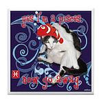 Cat Pisces Tile Coaster