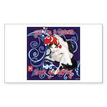 Cat Pisces Sticker (Rectangle)