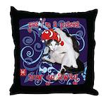 Cat Pisces Throw Pillow