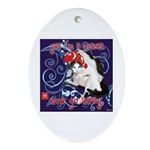 Cat Pisces Ornament (Oval)