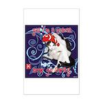 Cat Pisces Mini Poster Print