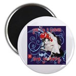 """Cat Pisces 2.25"""" Magnet (10 pack)"""