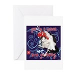 Cat Pisces Greeting Cards (Pk of 10)