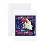 Cat Pisces Greeting Card