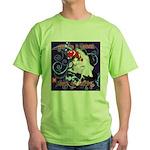 Cat Pisces Green T-Shirt
