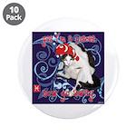 "Cat Pisces 3.5"" Button (10 pack)"