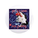 "Cat Pisces 3.5"" Button (100 pack)"