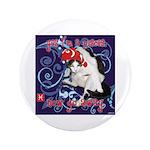 """Cat Pisces 3.5"""" Button"""