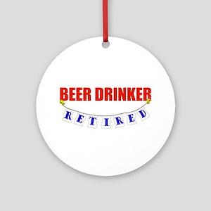 Retired Beer Drinker Ornament (Round)